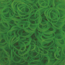 Imaginea Elastice Rainbow Loom - Neon Verde - 300 buc.