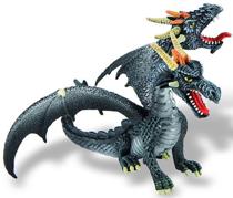 Imaginea Dragon negru cu 2 capete
