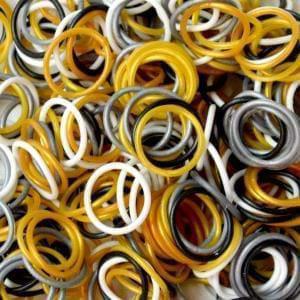 Picture of Elastice Rainbow Loom - Metalic Mix-300 buc