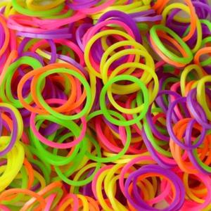 Picture of Elastice Rainbow Loom - Neon Mix - 300 buc.