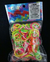Imaginea Elastice Rainbow Loom - Neon Mix Duo - 300 buc.