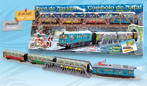 Trenulet Electric Christmas Cu Lumina Pod Si Tunel