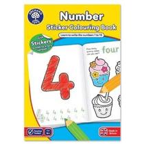 Imaginea Carte de colorat cu activitati in limba engleza si abtibilduri Invata numerele NUMBER