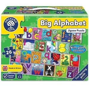 Picture of Puzzle de podea in limba engleza Invata alfabetul (26 piese - poster inclus) BIG ALPHABET JIGSAW