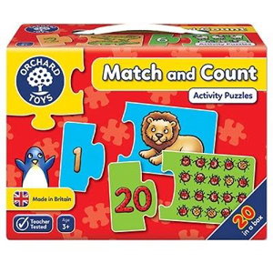 Picture of Puzzle Potriveste si numara de la 1 la 20  MATCH AND COUNT