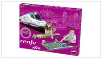 Imaginea Trenulet electric High Speed RENFE cu statie, tunel si oras