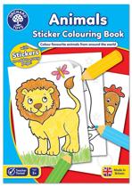 Imaginea Carte de colorat cu activitati in limba engleza si abtibilduri Animale ANIMALS