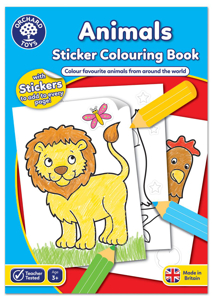 Picture of Carte de colorat cu activitati in limba engleza si abtibilduri Animale ANIMALS
