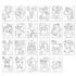 Picture of Carte de colorat cu activitati in limba engleza si abtibilduri Unicorni, Sirene si Altele UNICORNS, MERMAIDS AND MORE