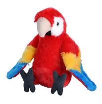 Imaginea Papagal Macaw Stacojiu - Jucarie Plus Wild Republic 20 cm